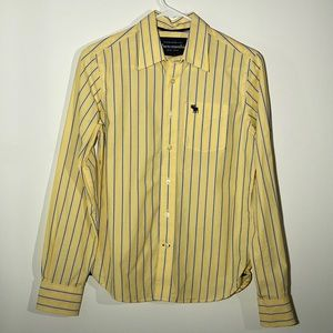 Yellow Abercrombie Long Sleeve Button Down Shirt